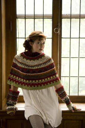 Ravelry: Fair Isle Capelet (and Gauntlets) pattern by Michele Rose ...
