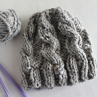 Ravelry  Chunky Cable Hat pattern by Lula Lousie 53375060916