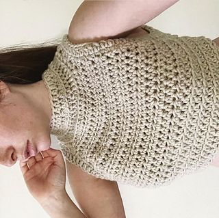 Ravelry High Neck Crochet Crop Top Pattern By Lori Carson