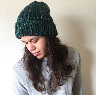Ravelry  Unisex Fold Over Chunky Knit Hat pattern by Lori Carson 4cfc0f658fb