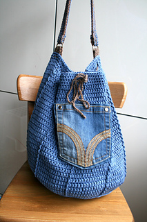 Denim Drawstring Bag 276 Pattern By Luz Mendoza Ravelry