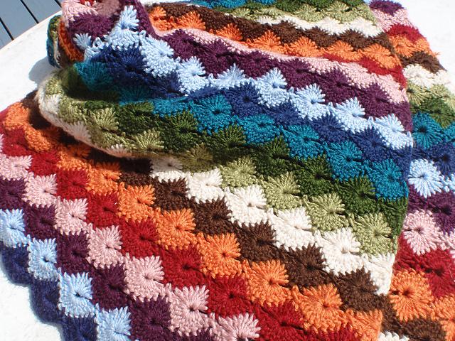Mantas Ganchillo Patrones. Vintage Crochet Pattern Lace Motif Granny ...