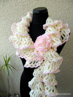 Ravelry Chunky Crochet Ruffle Scarf Quot Winter Honeymoon