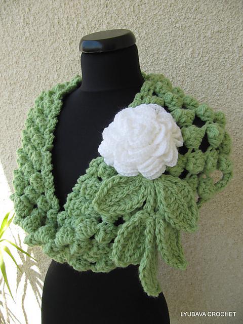 Ravelry Chunky Infinity Scarf Crochet Popcorn Stitch Pattern By