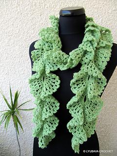 Ravelry Ruffle Lace Scarf Tutorial Pattern By Lyubava Crochet