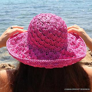 Ravelry  Shell Stitch Summer Hat pattern by Lyubava Crochet abb3552a80d