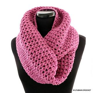 Ravelry Circle Infinity Scarf Pretty In Pink Pattern By Lyubava