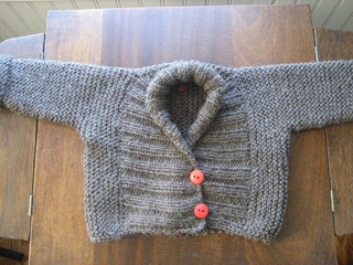 1879f7e24 Ravelry  Rustic Shawl Collar Baby Sweater pattern by Mary Kate Long