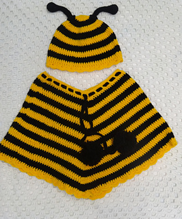 Ravelry: Bee Beanie & Poncho pattern by Michelle Torresan