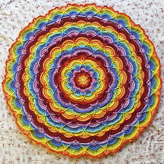 Ravelry Flower Puddles Ripples Blanket Pattern By