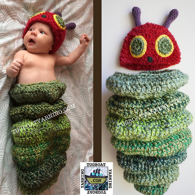 Ravelry The Chubby Caterpillar Baby Cocoon Hat Pattern By Maggie