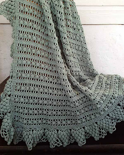 Ravelry maggies crochet l010 garden lace afghans patterns vintage grapes afghan dt1010fo