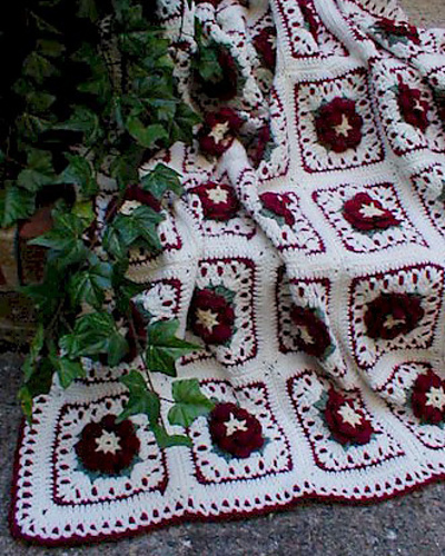 Ravelry maggies crochet l010 garden lace afghans patterns country rose afghan i dt1010fo