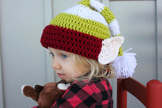 ravelry santa s helper elf hat pattern by jess coppom