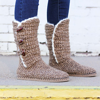 af00d07dce56 Ravelry  Breckenridge Boots with Flip Flop Soles pattern by Jess Coppom