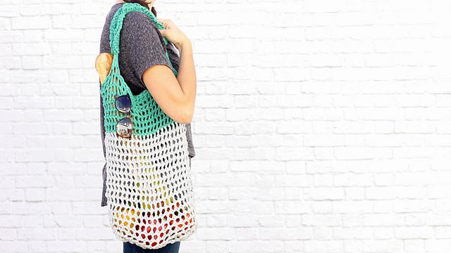 Ravelry Finger Crochet Market Tote Bag Pattern By Jess Coppom