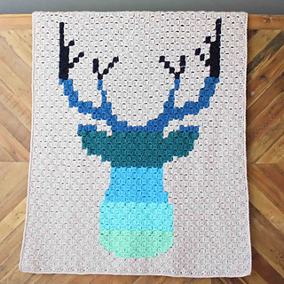 Ravelry Be A Deer C2c Afghan Pattern By Jess Coppom