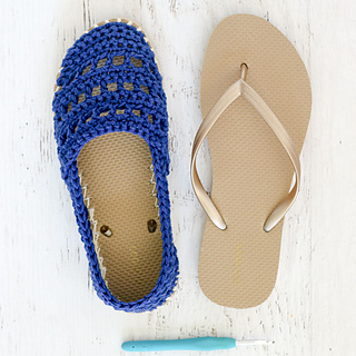 bd1dae6246c Ravelry  Seaside Slip-Ons with Flip Flop Soles pattern by Jess Coppom