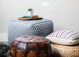 Ravelry Sampler Bean Bag Pouf Pattern By Jess Coppom