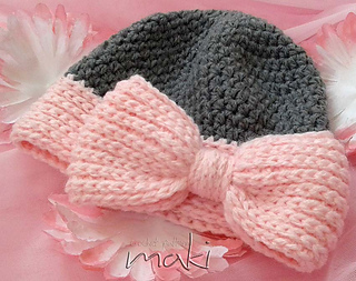 Big Bow Baby Hat Pattern By Craftylady Ravelry