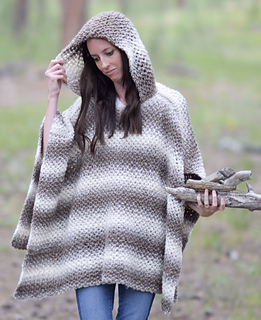 41911c6ba063a Ravelry  Oversized Hooded Poncho pattern by Jessica Reeves Potasz