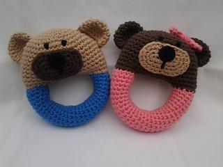 Amigurumi Rattle Free Pattern : Ravelry teddy bear rattle pattern by carolina guzman