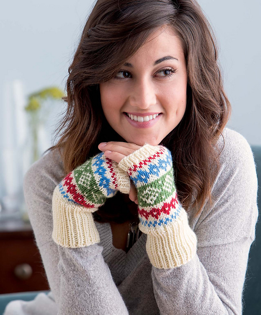 Ravelry: Scandinavian Inspired Fair Isle Fingerless Mitts pattern ...