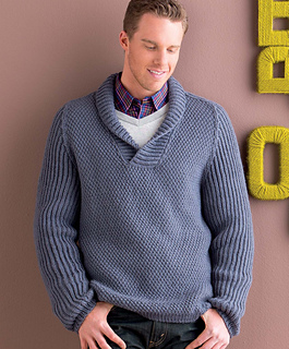 Ravelry: Men's Shawl-Collar Pullover pattern by Mercedes Tarasovich