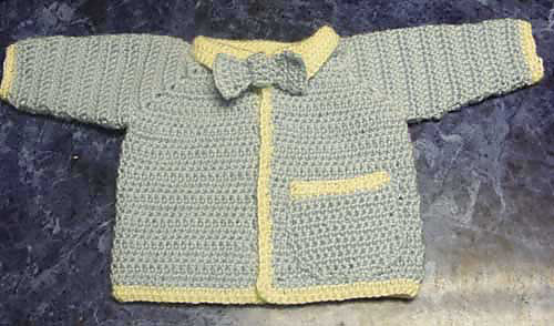 Ravelry My Little Man Baby Sweater Pattern By Mandy Nihiser
