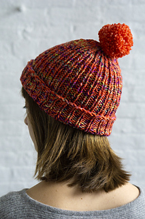 fe96ea045f6 Simple Ribbed Hat  by Fairmount Fibers Design Team