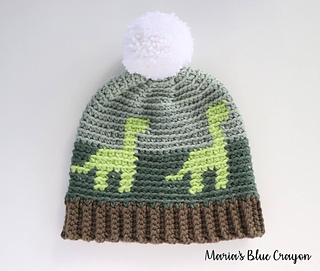Ravelry  Dinosaur Beanie pattern by Maria s Blue Crayon 4d71a60c076