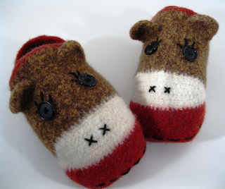 855581dbb3c Ravelry  Crocheted Felted Sock Monkey Slippers pattern by Maria Lee