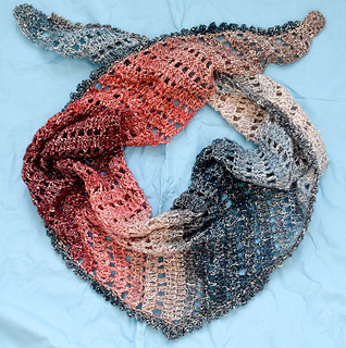 Ravelry Fire And Ice Shawl Pattern By Marie Segares