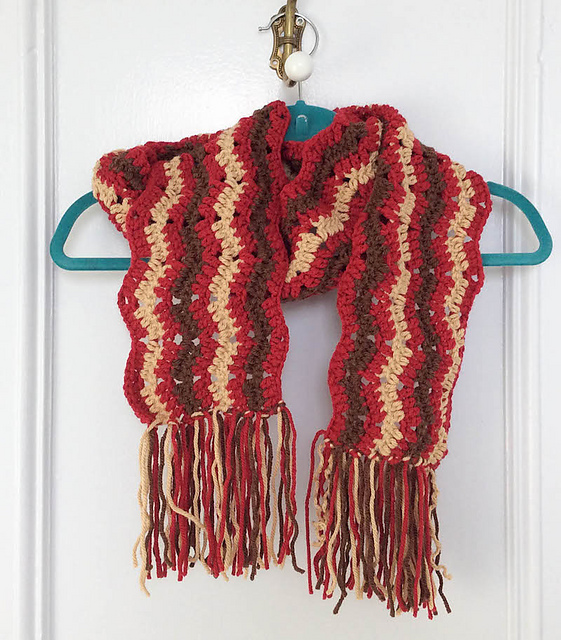 Ravelry Bonfire Fringe Scarf Pattern By Marie Segares