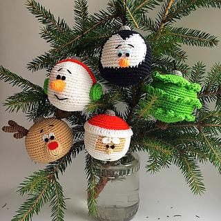 Ravelry: Christmas ornaments pattern by Mariya Kozlova