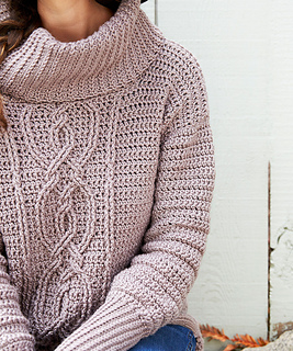 Ravelry Entwined Chic Cable Sweater Pattern By Jennifer Pionk