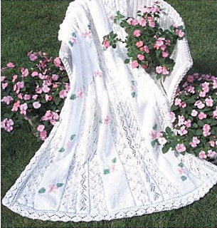 Ravelry: Lacy Blossoms Afghan pattern by Mary Maxim