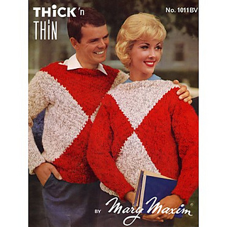 Ravelry: Ladies or Youths Crew Neck Pullover #1011bv pattern by Mary