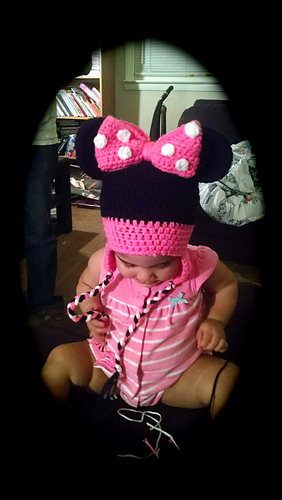 Ravelry: Mickey Mouse Beanie with Earflaps pattern by Janet Carrillo