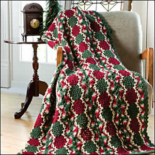 Ravelry Vintage Christmas Throw Pattern By Katherine Eng