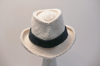 Ravelry  Fedora Hat Baby Boys to Mens XX Large pattern by Meadowvale ... 68d4fd646cf