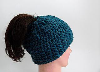 Ravelry Arielle Free Messy Bun Hat Pattern By Meadowvale Studio