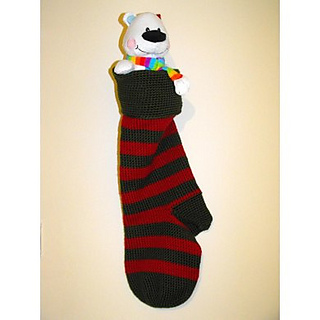ravelry giant christmas stocking pattern by pauline goldie - Giant Christmas Stocking