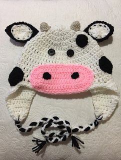Ravelry Cow Hat Crochet Pattern By Megan Unay