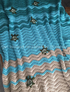 Ravelry Beach Wave Sea Turtle Blanket Pattern By Lainetree Creations