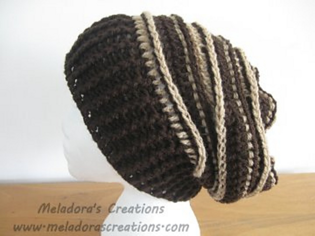 Ravelry  Riptide Slouch Hat pattern by Meladoras Creations c36ba8dadce