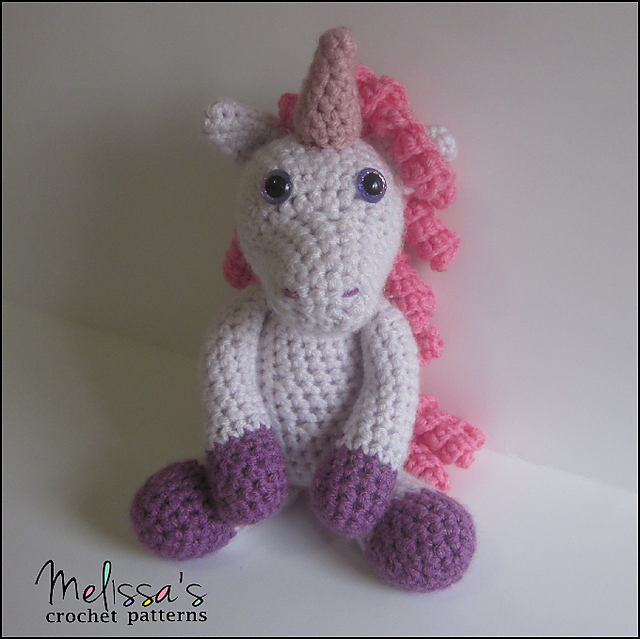Ravelry: Annabelle the Unicorn pattern by Melissa\'s Crochet Patterns