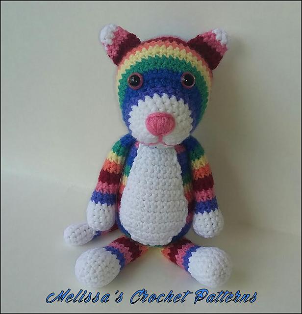 Ravelry: Irissa the Rainbow Kitty pattern by Melissa\'s Crochet Patterns