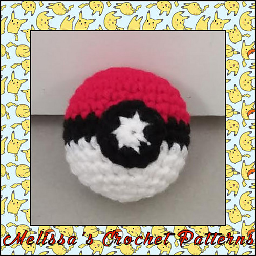 Ravelry Small Pokeball Pattern By Melissas Crochet Patterns