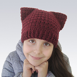 Ravelry Easy Pink Cat Ears Hat Pattern By Perfect Crochet For You